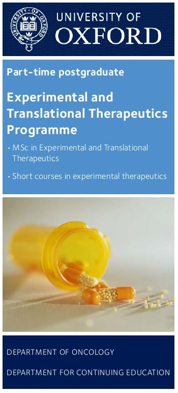 Click here to download the Experimental Therapeutics brochure
